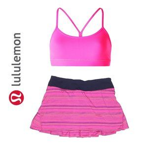 Lululemon Skirt and Sports Bra Set Pink Size 4